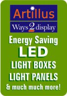 LED light boxes and light panels